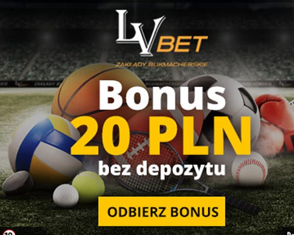 LVBET - 20zł bonus bez depozytu
