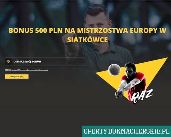 500 zł bonus na Mistrzostwa Europy