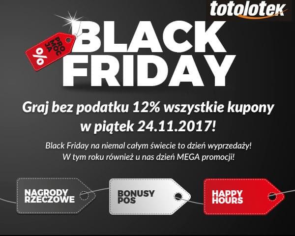 Black Friday także w Totolotku. Bez podatku plus nagrody rzeczowe i bonusy.