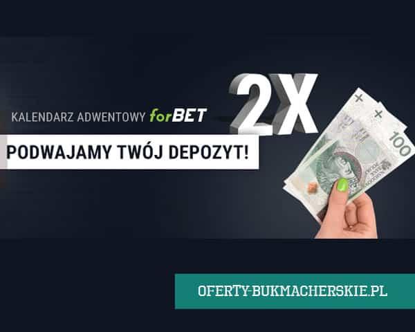 Forbet podwaja depozyt do 200 złotych