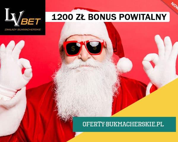 1200 PLN bonusa na start w LVbet