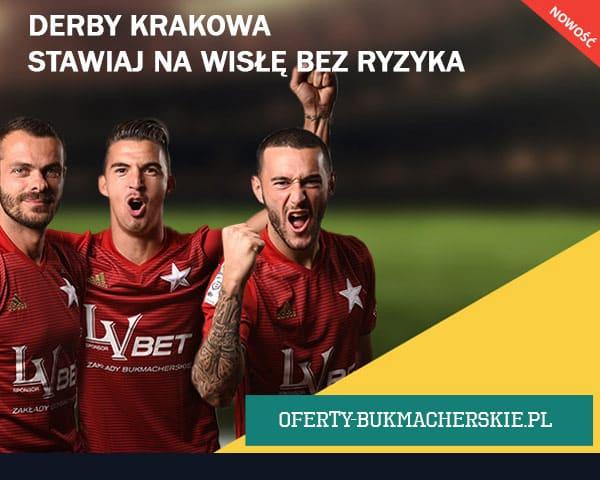 Derby Krakowa. Stawiaj na Wisłę bez ryzyka w LVbet!