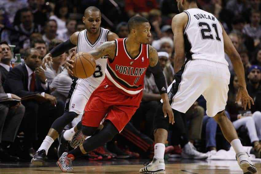 08.01 NBA - Portland Trail Blazers - San Antonio Spurs