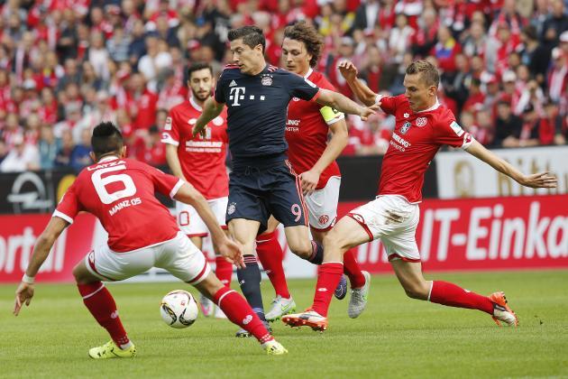 03.02 Bundesliga - FSV Mainz vs Bayern Monachium - Lewy umocni się w tabeli strzelców? Ile za bramkę Polaka?