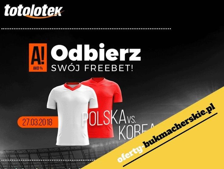 Freebet w Totolotku na mecz Polska – Korea Płd.
