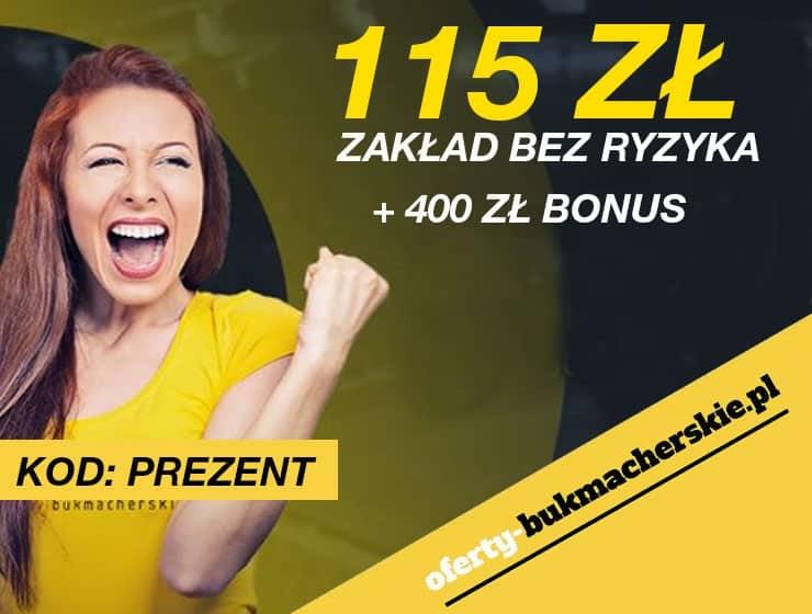 Fortuna Promocje | Fortuna Bonus – pierwszy zakład bez ryzyka do 115 PLN