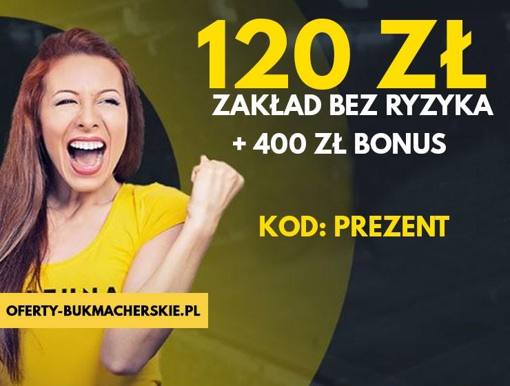 Fortuna Promocje | Fortuna Bonus - zakład bez ryzyka do 120 PLN