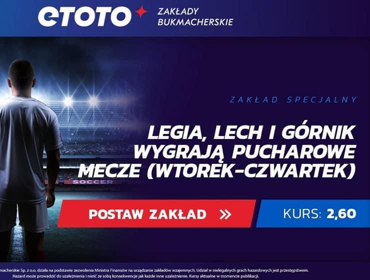 Legia i Górnik w pucharach, zakład specjalny w Etoto
