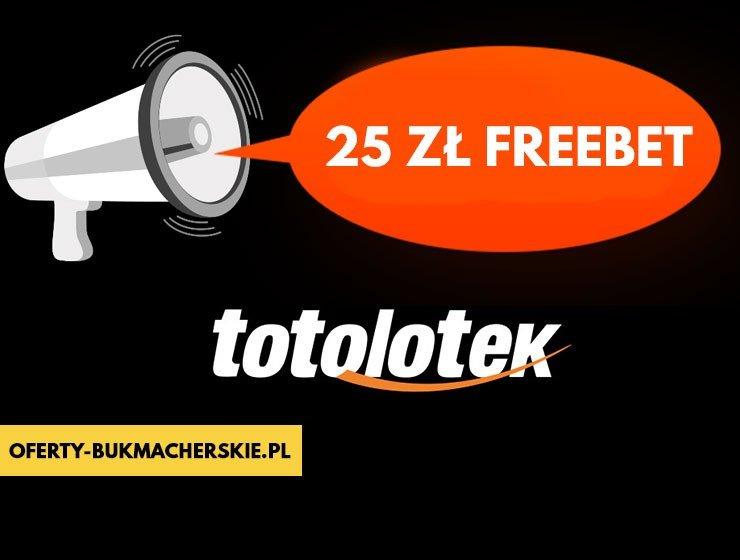 Totolotek bukmacher 25 PLN freebet