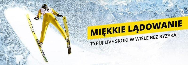 Promocja na skoki narciarskie Miękkie lądowanie w Fortunie