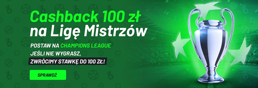 Cashback 100 zł na Ligę Mistrzów od Totalbet